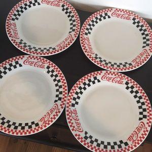 Vintage Coca Cola Diner Plates Set of 4 1996